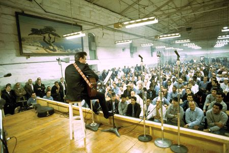 Onstage at folsom prison
