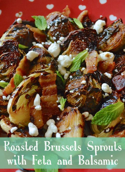 Balsamic Roasted Brussels Sprouts with Feta