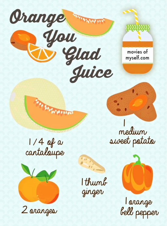 Orange cantaloupe juice