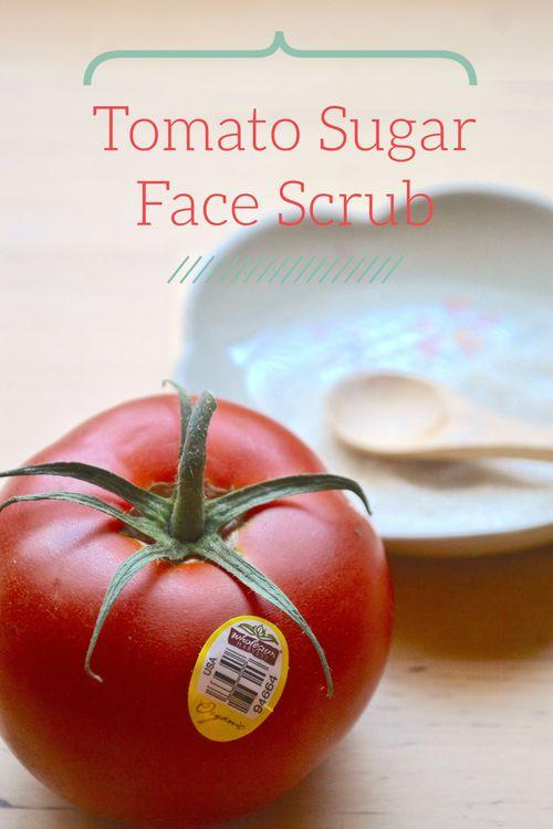 Tomato sugar face scrub