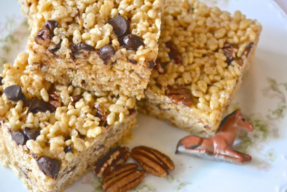 Bourbon Pecan Rice Krispy Treats