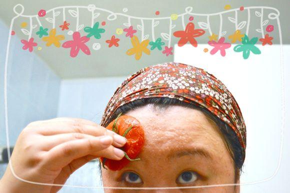 Tomato face scrub