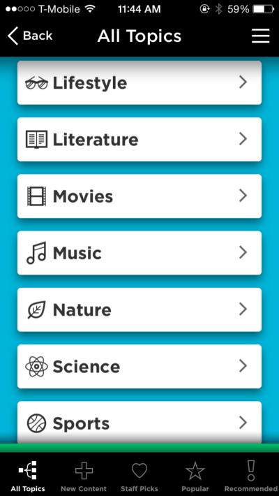 QuizUp Topics