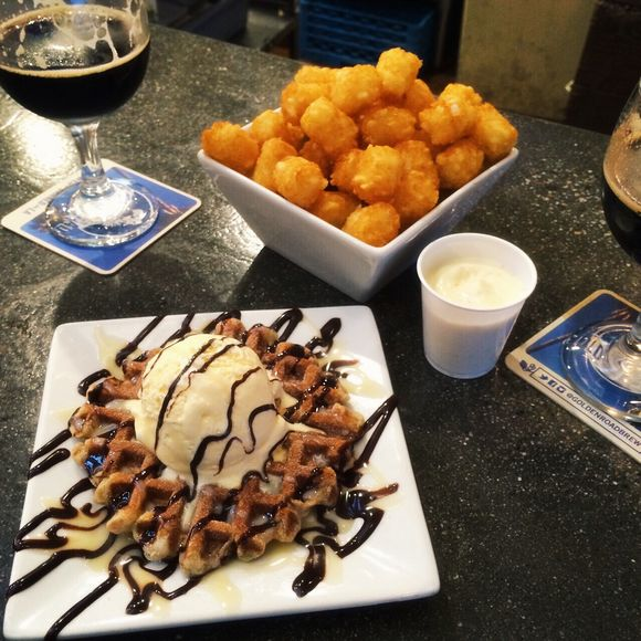 Tots and waffles
